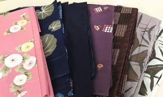 ポリエステル素材の着物