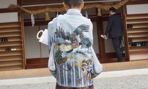 七五三の着物の柄 鷹